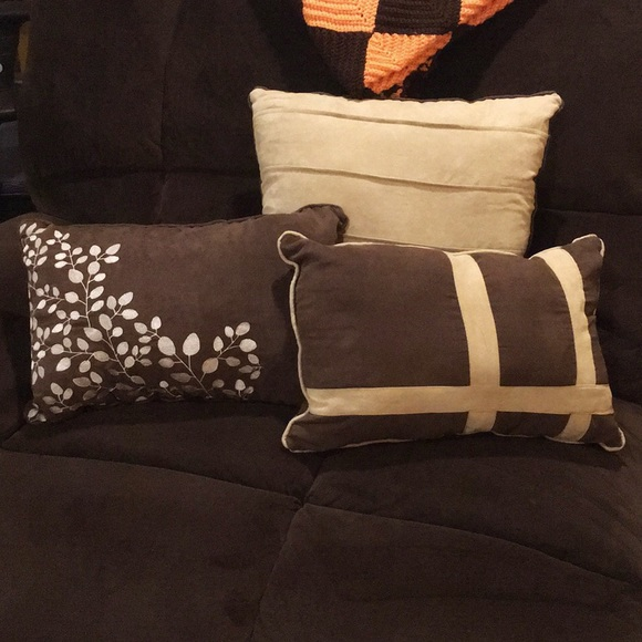 Super Brown Tan Throw Pillows Set Of 3 Ocoug Best Dining Table And Chair Ideas Images Ocougorg